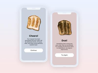 Daily UI :: 011 illustration design ui design toast error message success message flash message dailyui 010 dailyui