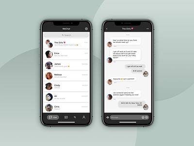 Daily UI :: 013 direct messaging ui design resdesign wechat messaging messaging app chat app ui design mobile app dailyui 013 dailyui messenger app
