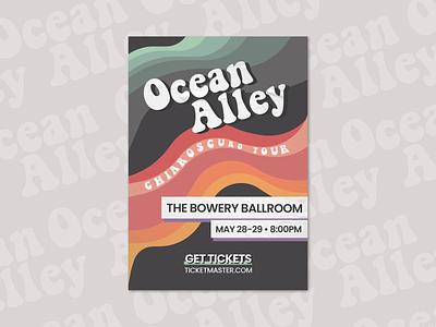 Ocean Alley Poster graphicdesign design poster design band flyer concert flyer concert illustration poster
