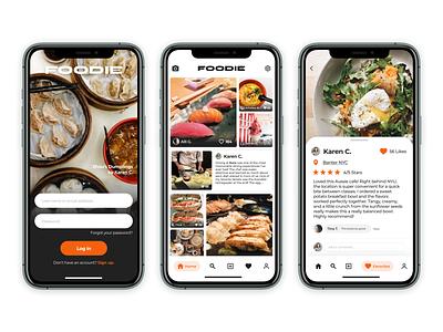 Foodie App designlab food uidesign uiux ui food app foodie mobile app social sharing