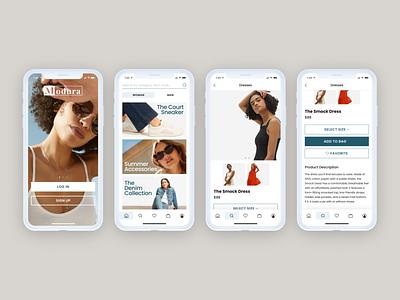 Fashion App Concept mobile app ecommerce shop shop ecommerce app ecommerce uidesign uiux fashion app fashion designlab