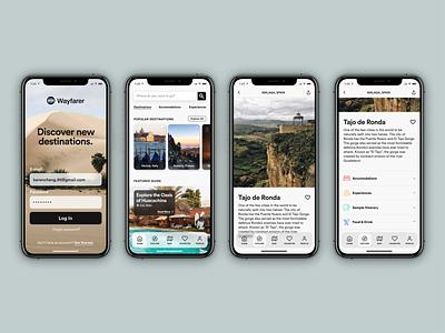 Travel App Concept mobile app uxdesign uidesign travel app designlab