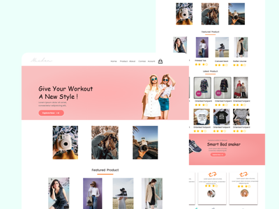 landig page more style illustration web design ui