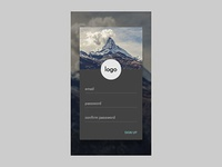 Signup for an android material app