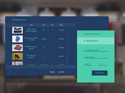 Credit card checkout for a web clothes shop ui dailyui 02 checkout card credit web