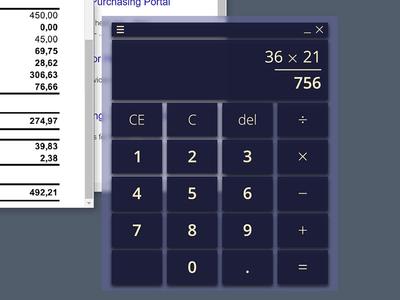 Desktop calculator 003 dailyui