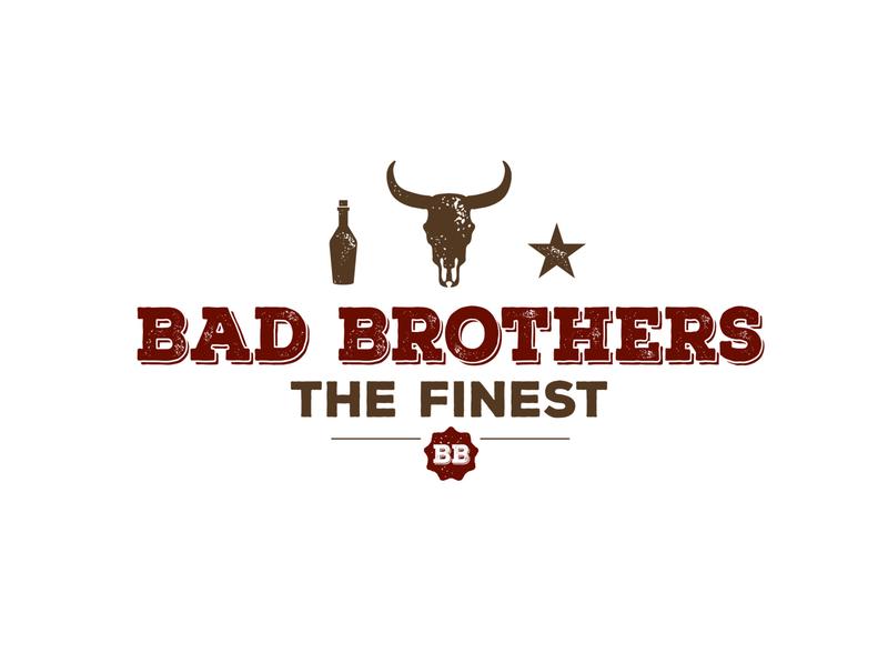 WIRTZ.DESIGN project Bad Brothers illustration typography branding logo design