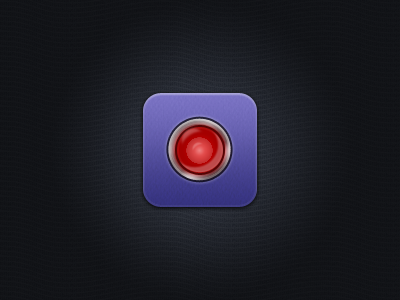 Alarm Icon icon iphone app retina medic alarm red urgencies texture metal border light bulb gradient