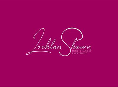 Lochlan Shawn Signature Logo typography design logo designer logo logo design branding logo branding branding logotype logo design signature logo