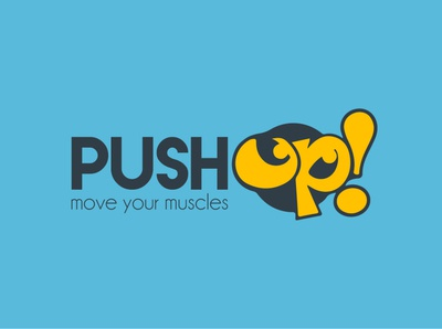 PushUp Logo Design illustration typography design logo designer logo logo design branding logo branding branding logotype logo design