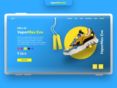Landing Page Design | Nike Shoes landing page design landing page mockups mock-up mockup nike shoes nike shoes web app shopping app shopping shop web templates graphic design web website template design ui app
