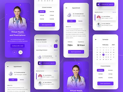 Medical Apps Design ui kit ios ux ui mobile meditation patient healthy doctor hospital medical