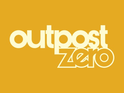 Outpost Zero sans serif young adult scifi comic books cover design print design logo design design logos graphic design comics comic book branding vector typography logo