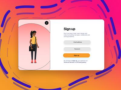 Sign Up eTutors design ui design figma online learing etutors