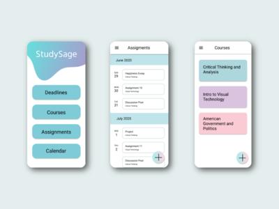 Studying App branding web app ux ui typography design studying