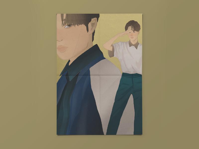 Lee Daehwi procreate illustration fanart kpop wanna one ab6ix lee daehwi
