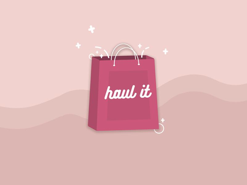 Haul It illustration logo branding pink fashion