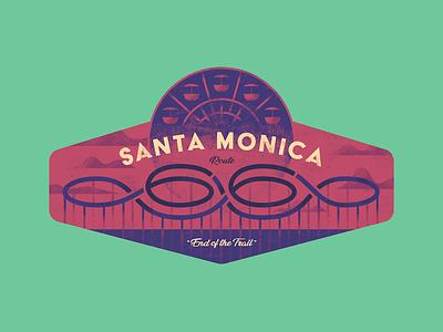 Santa Monica Badge pier beach 66 route 66 california santa monica