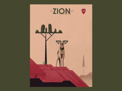 Zion Bighorn Poster