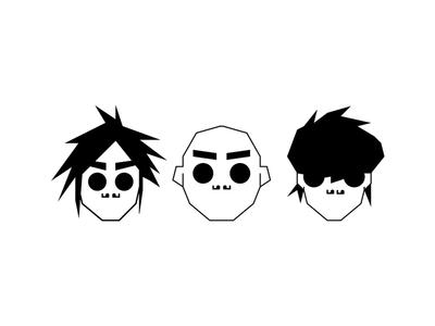 Gorillaz pictogramas icon design illustration