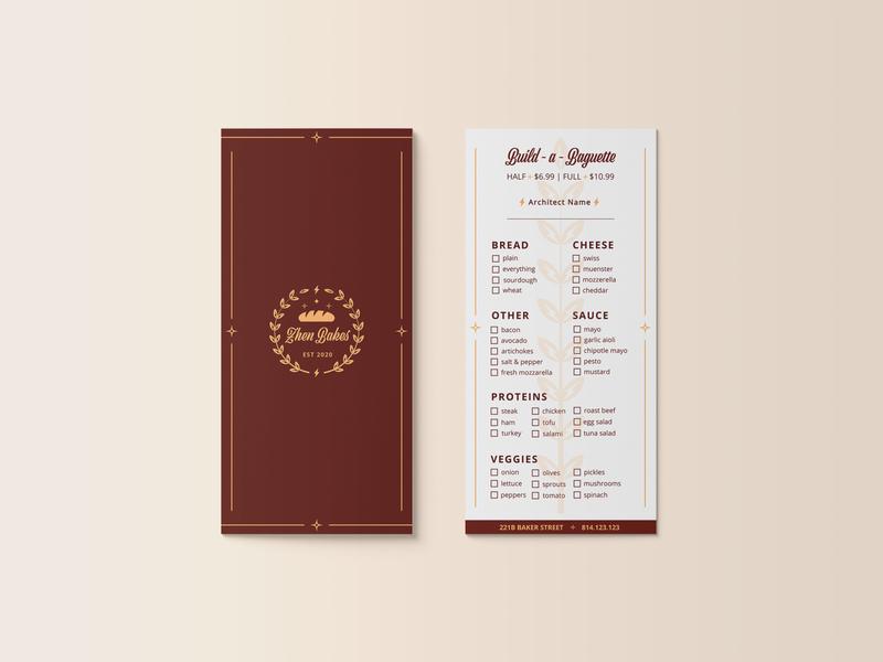 Bakery Rack Card Form illustrator icon vector typography branding illustration logo design bakery rack card