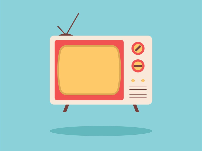 Retro Vector TV vectordesign vectorart tv television retro design illustrator illustration vector