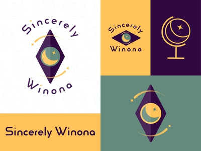Sincerely Winona: Branding Identity logodesign travel yoga healing branding brand design adobe logo adobe illustrator vectorart illustrator design illustration vector