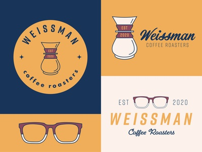 Branding Concept: Weissman Coffee Roasters coffeeshop coffee roasters coffe roasters mock youtube joshuaweissman brandingconcept branding brand design adobe logo adobe illustrator vectorart illustrator design illustration vector