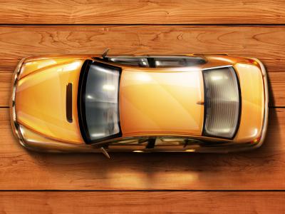Toy car lighting retouching shine car illustration web bolshe-krasnogo.com