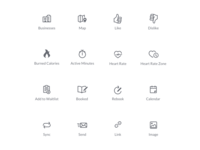 Icons for Fitness Application