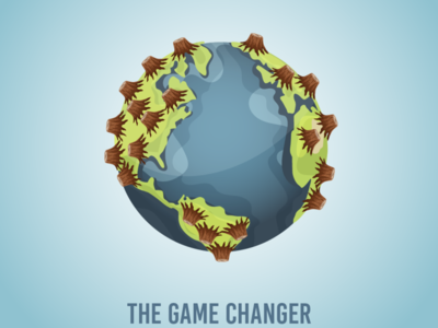 The Game Changer concept illustration environment covid19