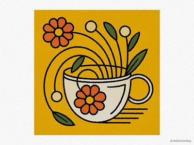 Cup of Creativity procreate ipad ipadpro plantillustration flowerillustration mug flowers creativity