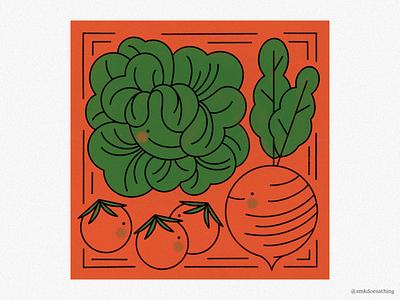 Veg Fam procreate ipadpro ipad veggieillustration vegetables veggies