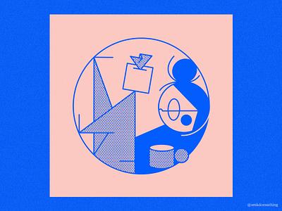 The Cold That Never Ends procreate ipadpro ipad illustration tea mug kleenix sick cold
