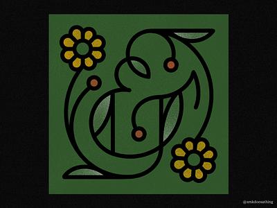 Ampersand procreate ipadpro ipad flowerillustration flower lettering illustration ampersand ampersandforever 36daysoftype