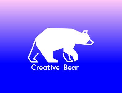 Logo design for Creative Bear Studio bear branding gradient logo brand design illustration vector design