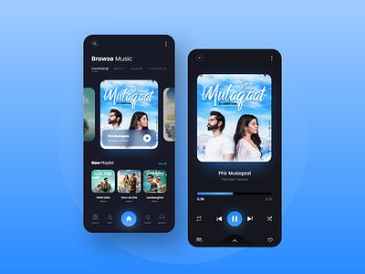 Music Player App Design ui ux music app minimal music player app ui music player music player song artist playlist