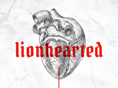 #lionhearted lion organ paper gray grey white lionhearted lionheart red heart