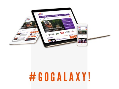 Frankfurt Galaxy Redesign Proposal Update sports redesign proposal orange galaxy frankfurt galaxy frankfurt football webdesign screendesign purple concept
