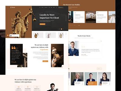 Lawyer advocates attorneys legal adviser law firm webdesign adobexd concept ui ux 2020 clean ui lawyer law