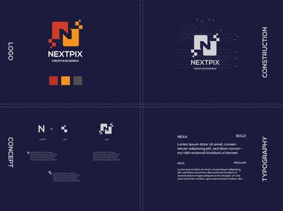 Letter N logo design branding logo lettering pixel letter n letter
