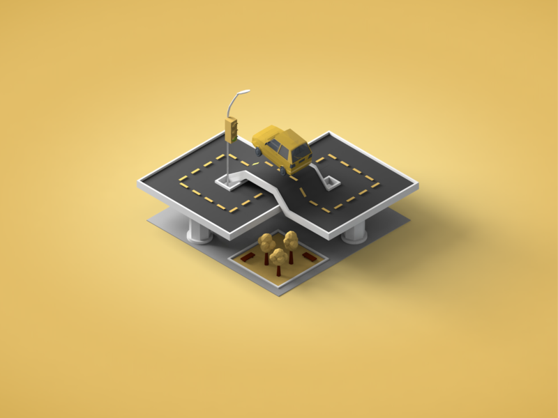NorCal Cannabis - Delivery lowpoly delivery car industry cannabis c4d 3d illustration isometric