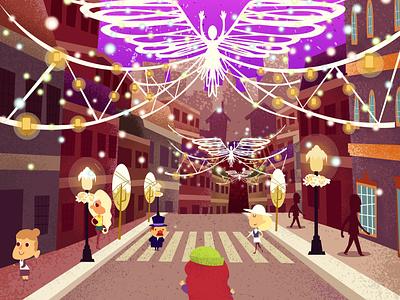 Christmas vibes art minimal typography animation illustrator design branding illustration art illustration flat