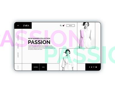 UI Design Concept for ZARA uidesigns frontentdeveloper webdesign uidesign uidesigner uiuxdesigner developer developement designer branding app website web ux ui design