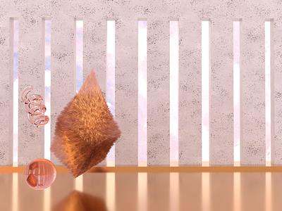 Floof fur floof environment illustration modeling redshift cinema 4d 3d