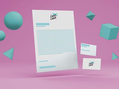 Paper Template By Lastlauf free template cgi 3d business card letterhead template mockup free freebie