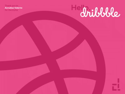Hello, Dribbble logo design amateur invite hello dribbble