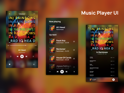 Music Player UI vector ui design amateur