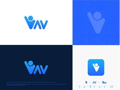 vav logo design typography logotype logo design illustration flat design cool logo branding best logo best designer