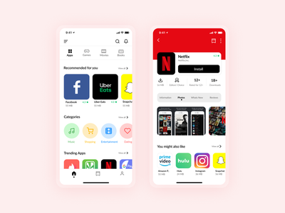 Playstore for IOS playstore inspiration uidesign uxui appstore appdesign debut